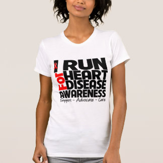 I Run For Heart Disease Awareness Tshirt