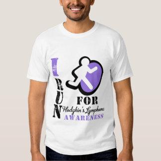 I Run For Hodgkins Lymphoma Awareness T Shirt