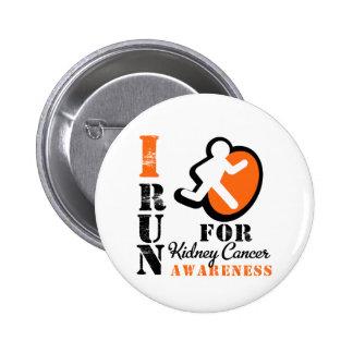 I Run For Kidney Cancer Awareness (Orange) 2 Inch Round Button