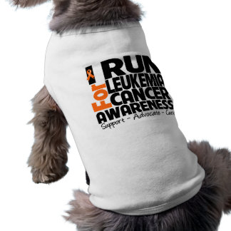 I Run For Leukemia Cancer Awareness Dog T-shirt