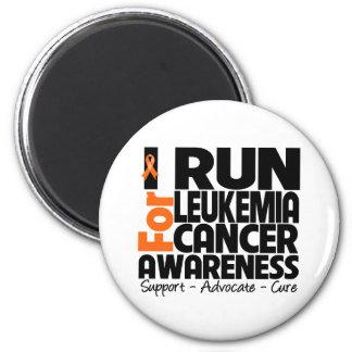 I Run For Leukemia Cancer Awareness Magnet