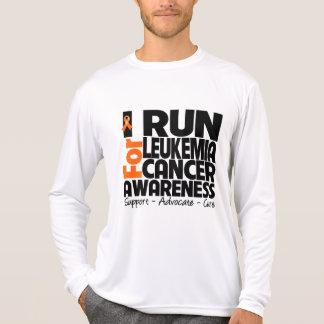 I Run For Leukemia Cancer Awareness T-shirt