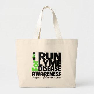 I Run For Lyme Disease Awareness Jumbo Tote Bag