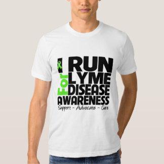 I Run For Lyme Disease Awareness Tee Shirt