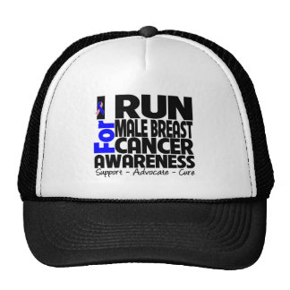 I Run For Male Breast Cancer Awareness Hat