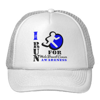 I Run For Male Breast Cancer Awareness Trucker Hats