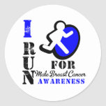 I Run For Male Breast Cancer Awareness Sticker