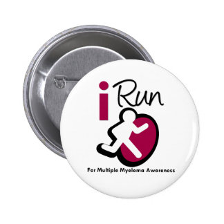 I Run For Multiple Myeloma Awareness Pinback Buttons