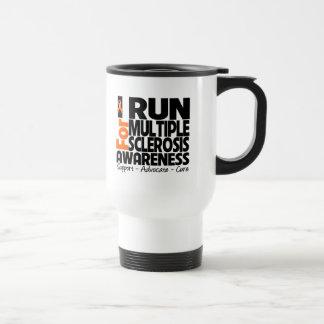 I Run For Multiple Sclerosis Awareness 15 Oz Stainless Steel Travel Mug