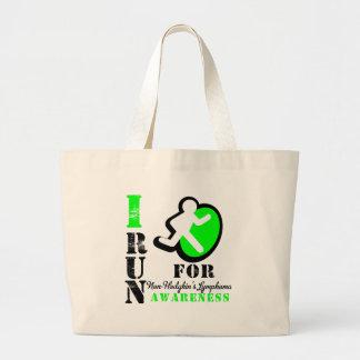 I Run For Non-Hodgkin's Lymphoma Awareness Jumbo Tote Bag