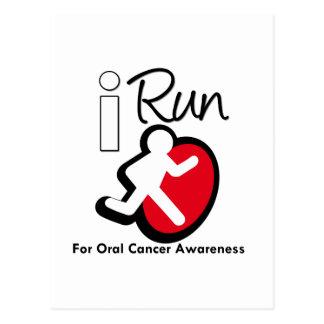 I Run For Oral Cancer Awareness Postcard