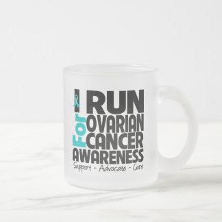 I Run For Ovarian Cancer Awareness Coffee Mugs