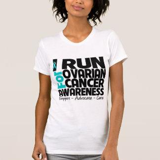 I Run For Ovarian Cancer Awareness T Shirts