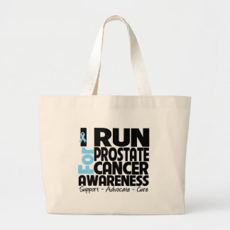 I Run For Prostate Cancer Awareness Tote Bags