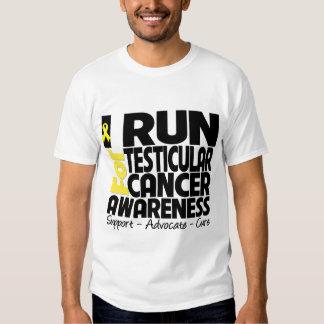 I Run For Testicular Cancer Awareness Tee Shirt