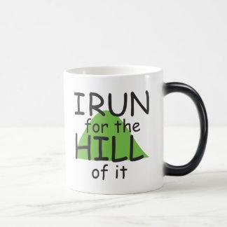 I Run for the Hill of it © - Funny Runner Themed Magic Mug