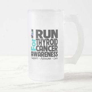 I Run For Thyroid Cancer Awareness Mugs