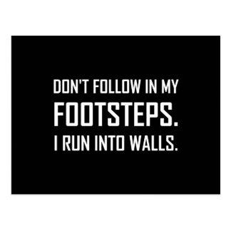 I Run Into Walls Funny Postcard