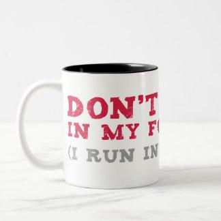 I Run Into Walls Two-Tone Coffee Mug