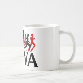 I RUN IOWA COFFEE MUG