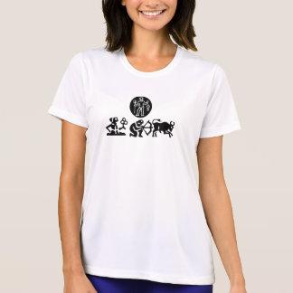 (I Run) Ladies Performance Micro-Fiber T-Shirt