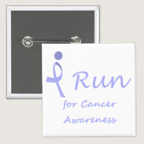 I Run - Lavender Ribbon General Cancer Pinback Button