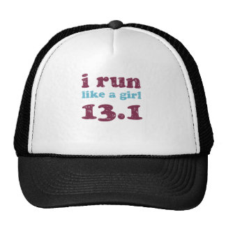 i run like a girl 13.1 trucker hat