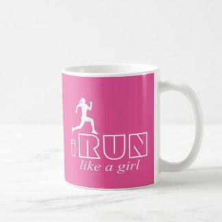 I run like a girl coffee mug