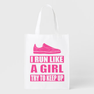 I Run Like a Girl Grocery Bag