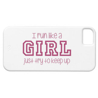 I Run Like a Girl Just Try to Keep Up iPhone 5 Cover
