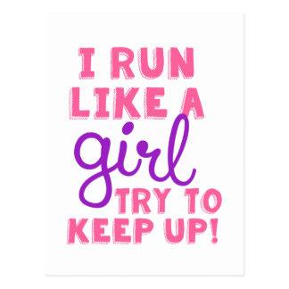 I Run Like a Girl Postcard