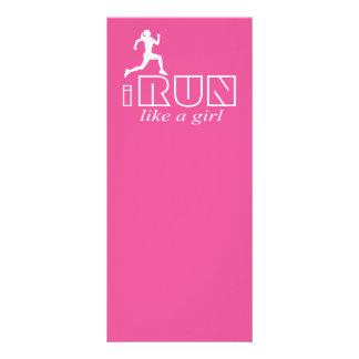 I run like a girl rack card