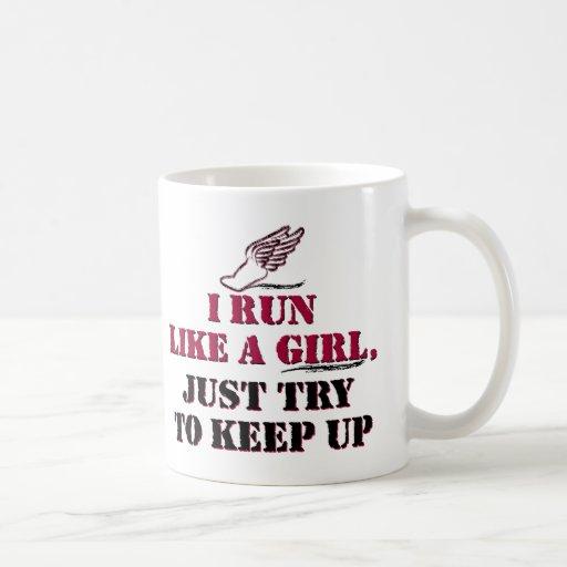 I run like a girl (red) coffee mug