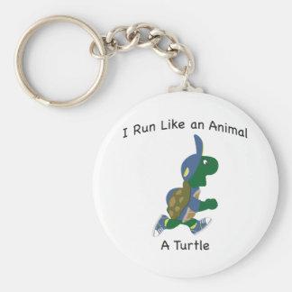 I run like an animal - a turtle keychain