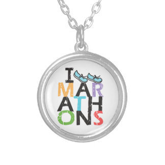 I run Marathons! Silver Plated Necklace