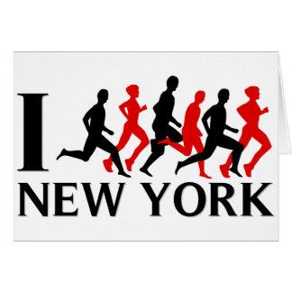 I RUN NEW YORK GREETING CARD