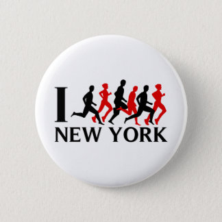 I RUN NEW YORK PINBACK BUTTON