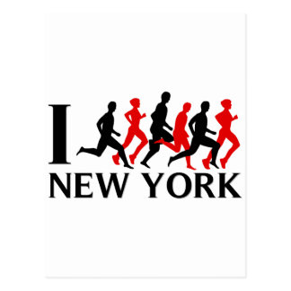 I RUN NEW YORK POSTCARD