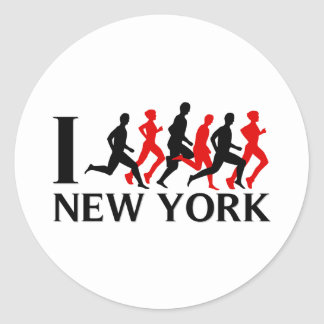I RUN NEW YORK STICKERS