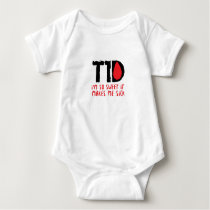 I Run on Coffee & Insulin Diabetes Awareness Baby Bodysuit