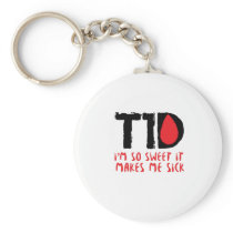 I Run on Coffee & Insulin Diabetes Awareness Keychain