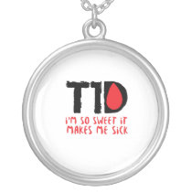 I Run on Coffee & Insulin Diabetes Awareness Silver Plated Necklace