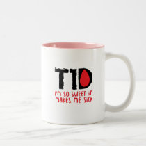 I Run on Coffee & Insulin Diabetes Awareness Two-Tone Coffee Mug
