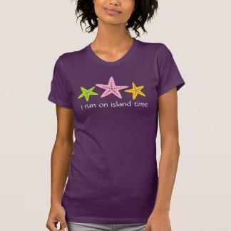 I run on island time customized beach t-shirt