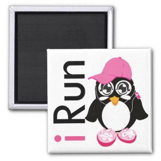 i Run Penguin Fridge Magnet