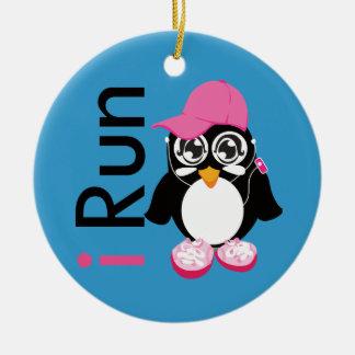 i Run Penguin Ornaments