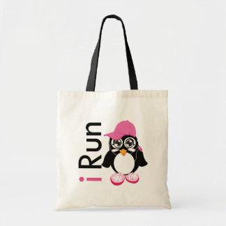 i Run Penguin Tote Bag