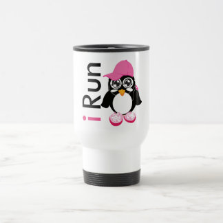 i Run Penguin Travel Mug