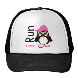 i Run Penguin Trucker Hat