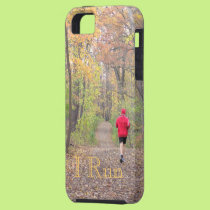 """""""I RUN""""(PHOTOG. PERSON RUNNING IN WOODS IN FALL) iPhone SE/5/5s CASE"""